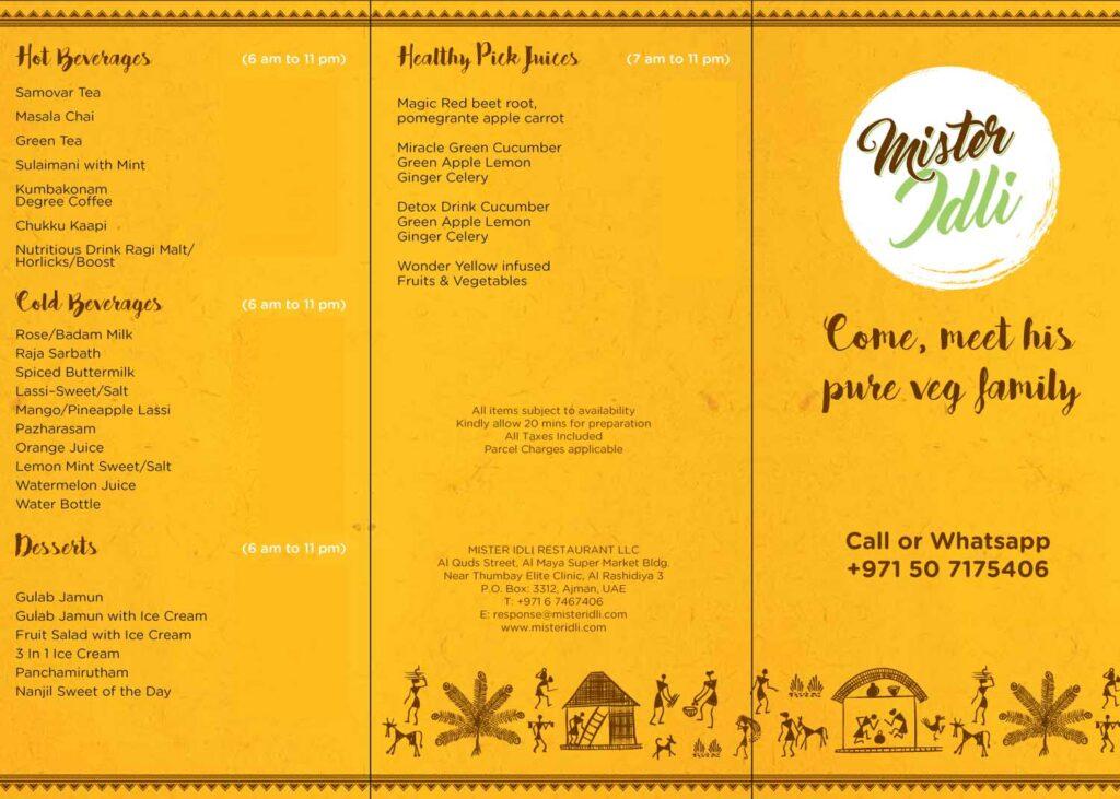 Mister-Idli-Ajman-menu
