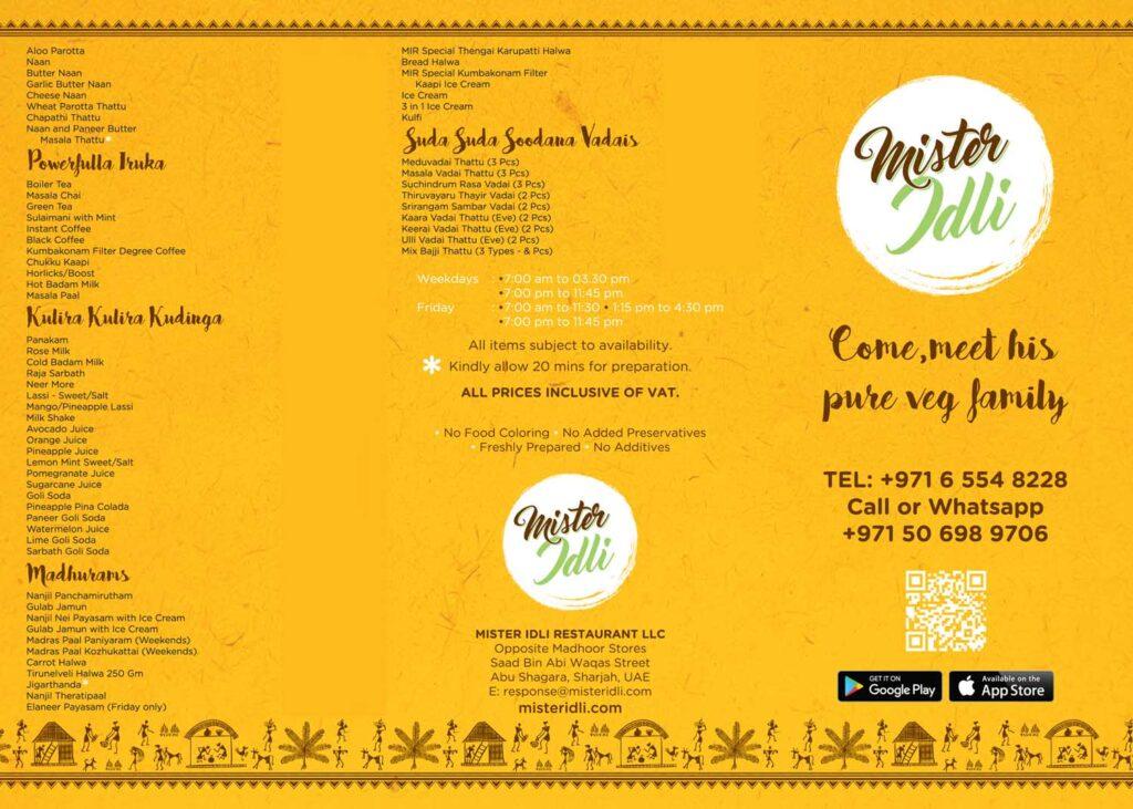 Mister-Idli-Shajah-menu